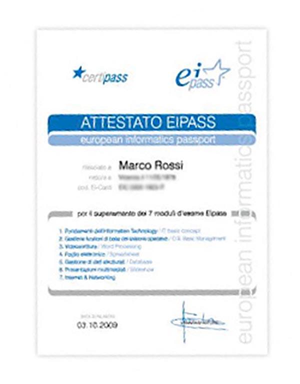 Innovarsi Formazione - Certificazione Eipass 7 Moduli User